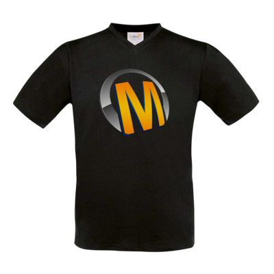 Motiv: T-Shirt V-Neck FAIR WEAR - Macho - Logo - Orange