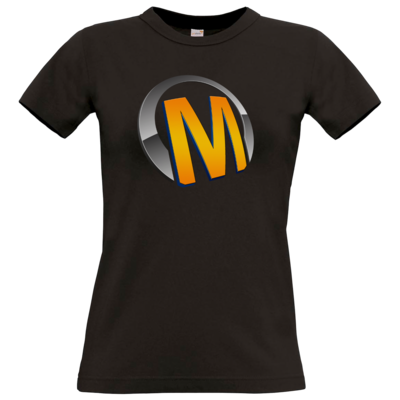 Motiv: T-Shirt Damen Premium FAIR WEAR - Macho - Logo - Orange