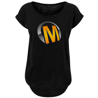 Motiv: Ladies Long Slub Tee - Macho - Logo - Orange