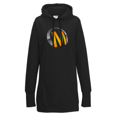 Motiv: Lady Longline Hoodie - Macho - Logo - Orange