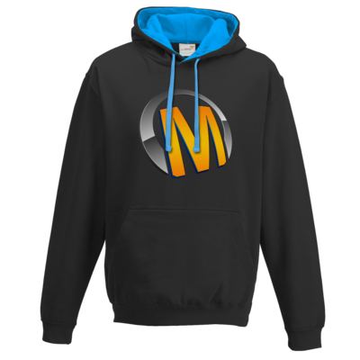 Motiv: Two-Tone Hoodie - Macho - Logo - Orange