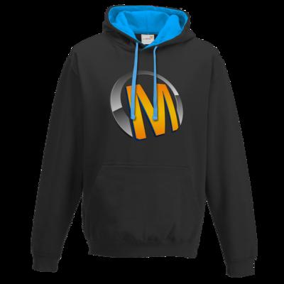 Motiv: Two-Tone Hoodie - Macho - Logo - Orange