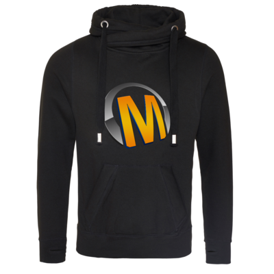 Motiv: Cross Neck Hoodie - Macho - Logo - Orange