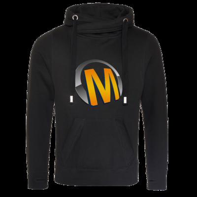 Motiv: Cross Neck Hoodie - Macho - Logo - Orange