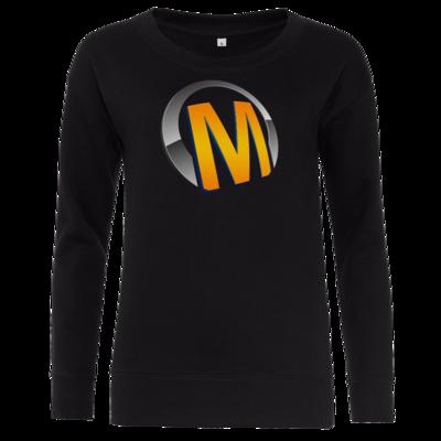 Motiv: Girlie Crew Sweatshirt - Macho - Logo - Orange