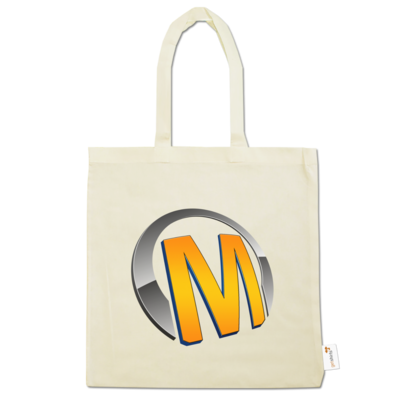 Motiv: Baumwolltasche - Macho - Logo - Orange
