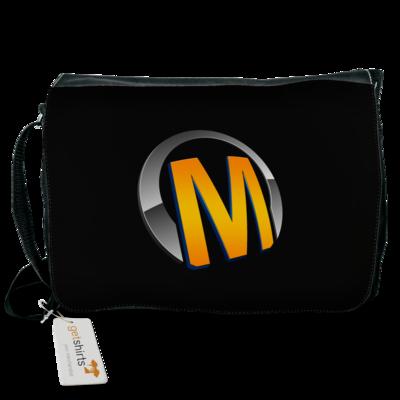 Motiv: Schultertasche - Macho - Logo - Orange