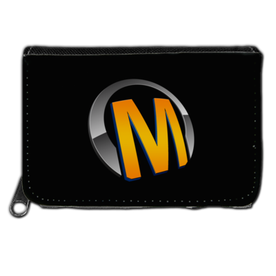 Motiv: Geldboerse - Macho - Logo - Orange