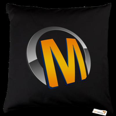 Motiv: Kissen Baumwolle - Macho - Logo - Orange