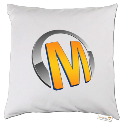 Motiv: Kissen - Macho - Logo - Orange