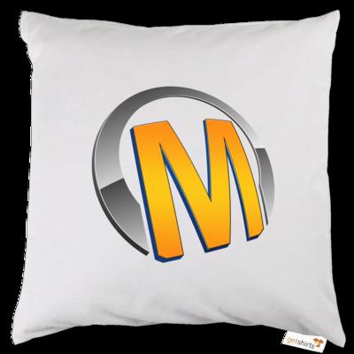 Motiv: Kissen - Macho - Logo - Orange