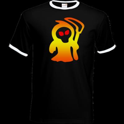 Motiv: T-Shirt Ringer - Macho - Sensenmann