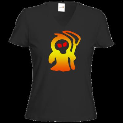 Motiv: T-Shirt Damen V-Neck Classic - Macho - Sensenmann