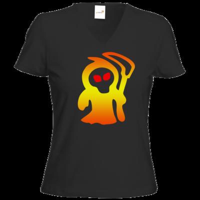 Motiv: T-Shirts Damen V-Neck FAIR WEAR - Macho - Sensenmann