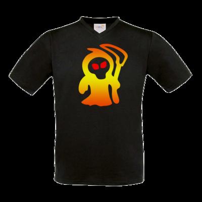 Motiv: T-Shirt V-Neck FAIR WEAR - Macho - Sensenmann