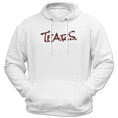 Motiv: Hoodie Premium FAIR WEAR - TEARS 2.0 - Logo rot