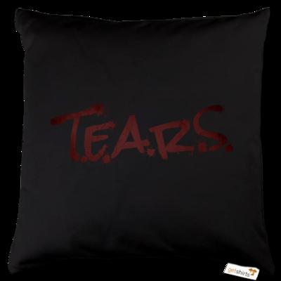 Motiv: Kissen Baumwolle - TEARS 2.0 - Logo rot
