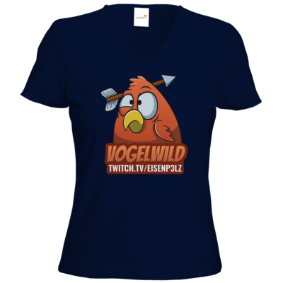 Motiv: T-Shirts Damen V-Neck FAIR WEAR - Vogelwild