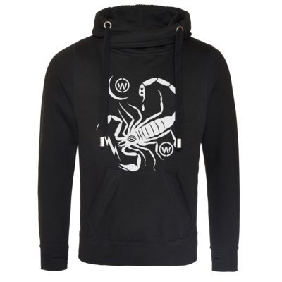 Motiv: Cross Neck Hoodie - Scorpion