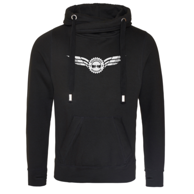 Motiv: Cross Neck Hoodie - Logo Wings