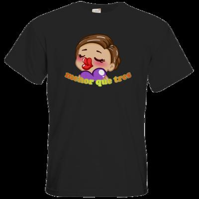 Motiv: T-Shirt Premium FAIR WEAR - AlocaNegra - menor que tres