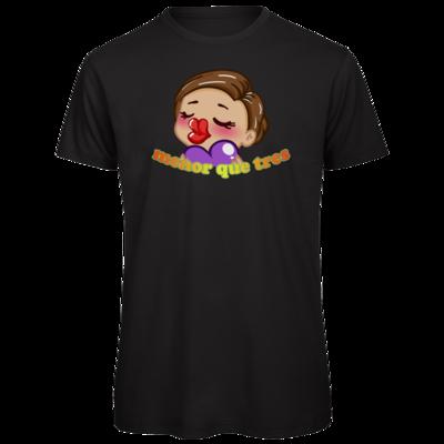 Motiv: Organic T-Shirt - AlocaNegra - menor que tres