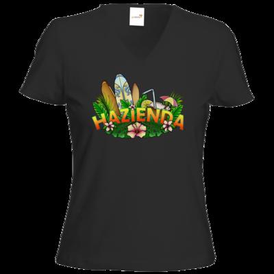Motiv: T-Shirt Damen V-Neck Classic - AlocaNegra - Hazienda