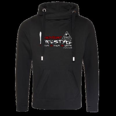 Motiv: Cross Neck Hoodie - Kampfkunst Lifestyle - Logo 2