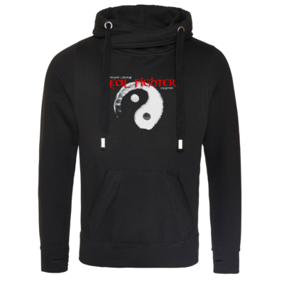 Motiv: Cross Neck Hoodie - Real Fighter
