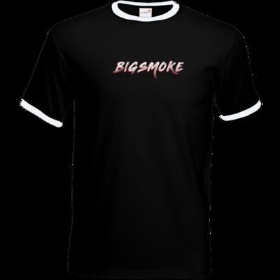 Motiv: T-Shirt Ringer - Schriftzug Big Smoke