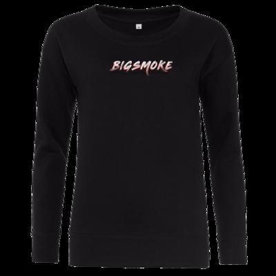 Motiv: Girlie Crew Sweatshirt - Schriftzug Big Smoke