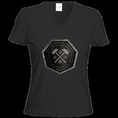 Motiv: T-Shirts Damen V-Neck FAIR WEAR - Wappen - Xorlosch