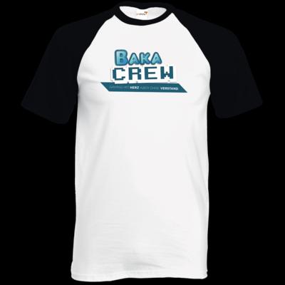 Motiv: TShirt Baseball - BakaCrew Logo mit Claim