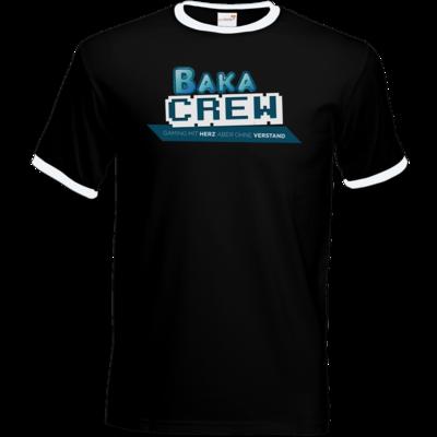Motiv: T-Shirt Ringer - BakaCrew Logo mit Claim