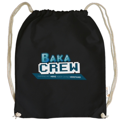 Motiv: Cotton Gymsac - BakaCrew Logo mit Claim