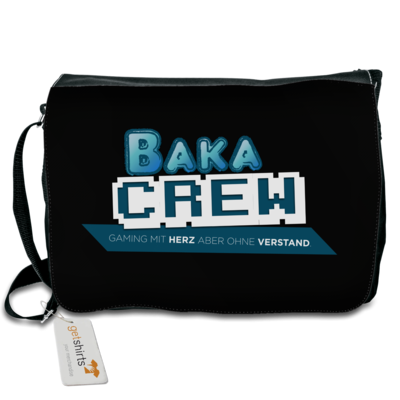 Motiv: Schultertasche - BakaCrew Logo mit Claim