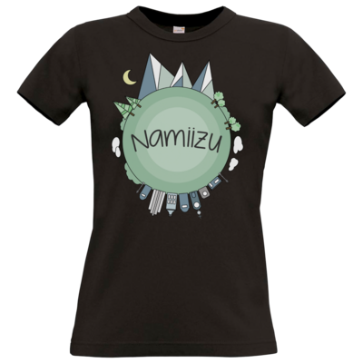Motiv: T-Shirt Damen Premium FAIR WEAR - Butterfull World
