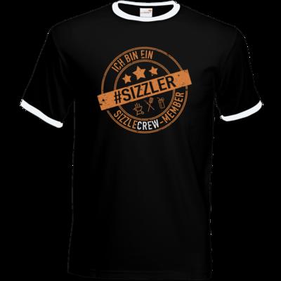 Motiv: T-Shirt Ringer - sizzler_3_dunkel