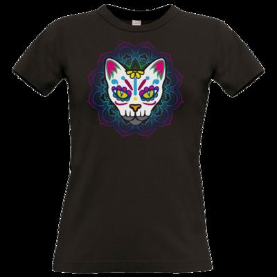 Motiv: T-Shirt Damen Premium FAIR WEAR - AlocaNegra - Cat
