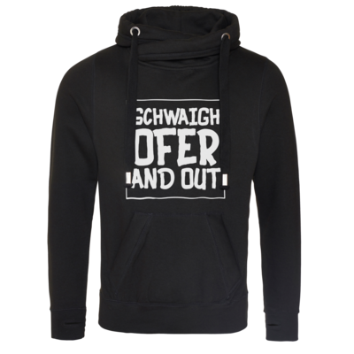 Motiv: Cross Neck Hoodie - Schwaighofer and out