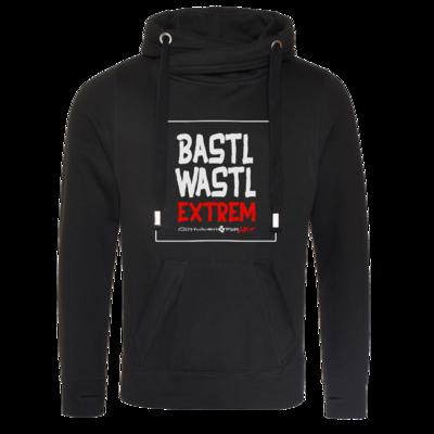 Motiv: Cross Neck Hoodie - Bastlwastl extrem