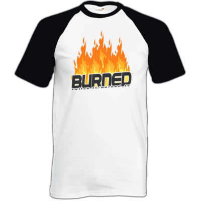 Motiv: TShirt Baseball - Burned Flames