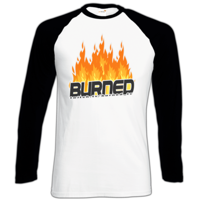 Motiv: Longsleeve Baseball T - Burned Flames