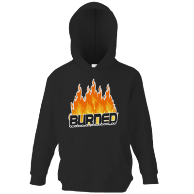 Motiv: Kids Hooded Sweat - Burned Flames