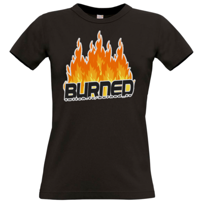 Motiv: T-Shirt Damen Premium FAIR WEAR - Burned Flames
