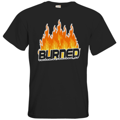Motiv: T-Shirt Premium FAIR WEAR - Burned Flames
