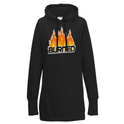 Motiv: Lady Longline Hoodie - Burned Flames