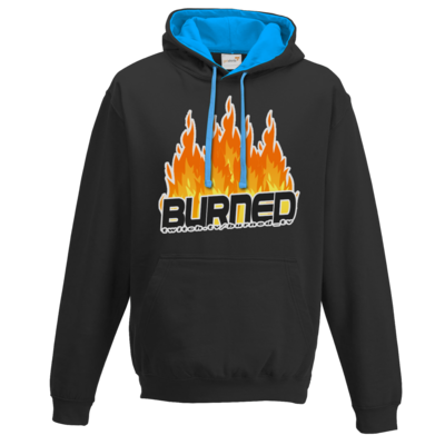 Motiv: Two-Tone Hoodie - Burned Flames