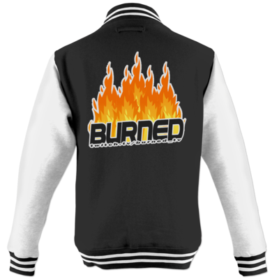 Motiv: College Jacke - Burned Flames