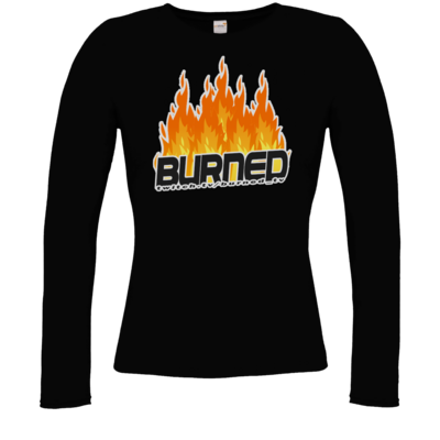 Motiv: Longsleeve Damen Organic - Burned Flames